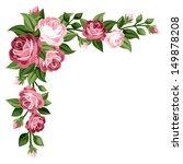 Pink Vintage Roses  Rosebuds...