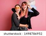 couple of fabulous girls in...   Shutterstock . vector #1498786952