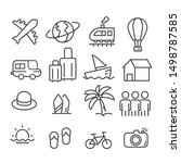 travel icons isolated. modern... | Shutterstock .eps vector #1498787585