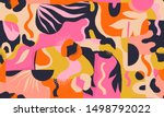 colorful trendy collage... | Shutterstock .eps vector #1498792022