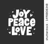 joy peace love hand drawn... | Shutterstock .eps vector #1498808348