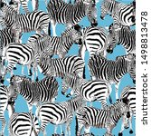 seamless pattern black and...   Shutterstock .eps vector #1498813478