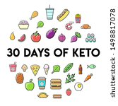 keto diet nutrition plan icons... | Shutterstock .eps vector #1498817078