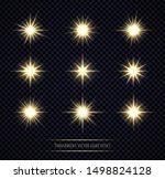 yellow light flare effects set...   Shutterstock .eps vector #1498824128