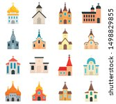 Church Icons Set. Flat Set Of...