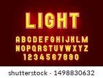 light font lamp symbol  gold... | Shutterstock .eps vector #1498830632
