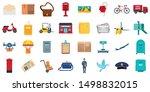 Postman Icons Set. Flat Set Of...