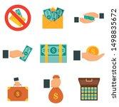 Bribery Icon Set. Flat Set Of...