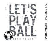 football or soccer sport... | Shutterstock .eps vector #1498837472