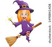 halloween cartoon character... | Shutterstock .eps vector #1498841408