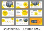 abstract presentation templates ... | Shutterstock .eps vector #1498844252