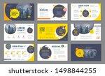 abstract presentation templates ... | Shutterstock .eps vector #1498844255