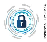 concept network protection... | Shutterstock .eps vector #1498845752