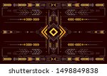 decorative backdrop design with ... | Shutterstock .eps vector #1498849838