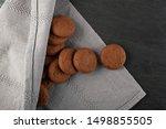 heap of soft homemade chocolate ... | Shutterstock . vector #1498855505