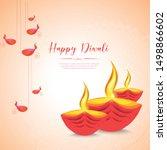 vector illustration or greeting ... | Shutterstock .eps vector #1498866602