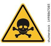 triangle skull danger toxic... | Shutterstock .eps vector #1498867085
