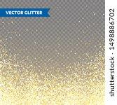 sparkling golden glitter on... | Shutterstock .eps vector #1498886702