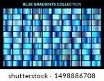 blue  azure glossy gradient ...   Shutterstock .eps vector #1498886708