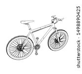 line art of bicycle. coloring... | Shutterstock .eps vector #1498890425