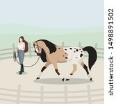 vector flat illustration of... | Shutterstock .eps vector #1498891502