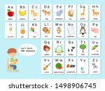 english vocabulary and alphabet ... | Shutterstock .eps vector #1498906745