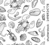 seamless pattern of different... | Shutterstock .eps vector #1498924778
