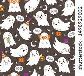Halloween  Pattern Of Cute...