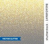 sparkling golden glitter on... | Shutterstock .eps vector #1498939598