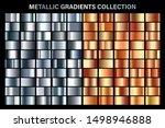 silver and orange bronze glossy ... | Shutterstock .eps vector #1498946888