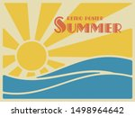 summer retro poster. sun over... | Shutterstock .eps vector #1498964642