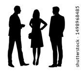 vector silhouettes of  men and... | Shutterstock .eps vector #1498968485