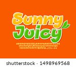vector sunny juicy font with... | Shutterstock .eps vector #1498969568