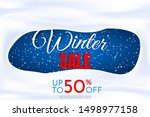 vector illustration. winter... | Shutterstock .eps vector #1498977158