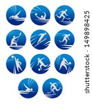 sport icons set with sportsmen... | Shutterstock .eps vector #149898425