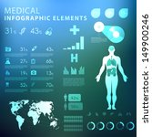 medical infographic elements  | Shutterstock .eps vector #149900246