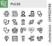set of pulse icons such as...   Shutterstock .eps vector #1499002988