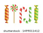 set of candies  sweets and... | Shutterstock .eps vector #1499011412