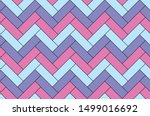 Stock vector purple and blue herringbone pattern seamless background 1499016692