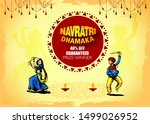 illustration of happy navratri... | Shutterstock .eps vector #1499026952