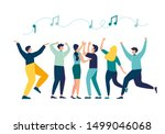 vector illustration  a group of ... | Shutterstock .eps vector #1499046068