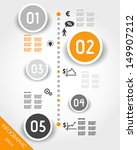 orange timeline with business... | Shutterstock .eps vector #149907212