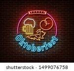 neon oktoberfest signs vector...   Shutterstock .eps vector #1499076758