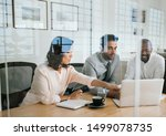 diverse group of businesspeople ... | Shutterstock . vector #1499078735
