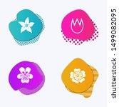 Liquid Colored Badges. Flower...