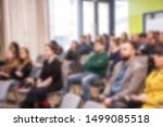 blurred business seminar...   Shutterstock . vector #1499085518