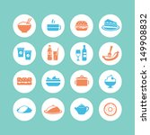 food icons | Shutterstock .eps vector #149908832