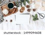 christmas  winter composition.... | Shutterstock . vector #1499094608