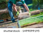 Installation Of New Grass Turf...