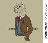 Fashion Illustration Of Bear...